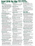 Excel 2016 for Mac Charts, Sparklines, Tables & PivotTables Quick Reference Guide (Cheat Sheet of Instructions, Tips & Shortcuts - Laminated Card)