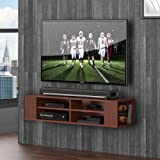 Fitueyes Wall Mounted Audio/Video Console wood grain for xbox one /PS4/ vizio/ Sumsung/sony TV DS212001WB-G
