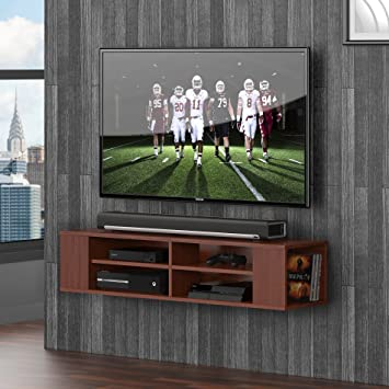 sony tv with ps4. fitueyes wall mounted audio/video console wood grain for xbox one /ps4/ vizio sony tv with ps4