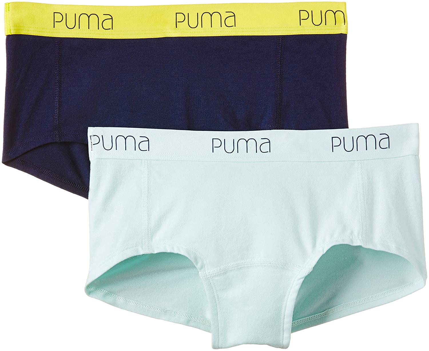 Puma Damen Mini Shorts Basic 2er Pack Black XS 643052001