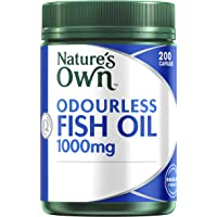 Nature's Own Odourless Fish Oil 1000mg Capsules, 200 count