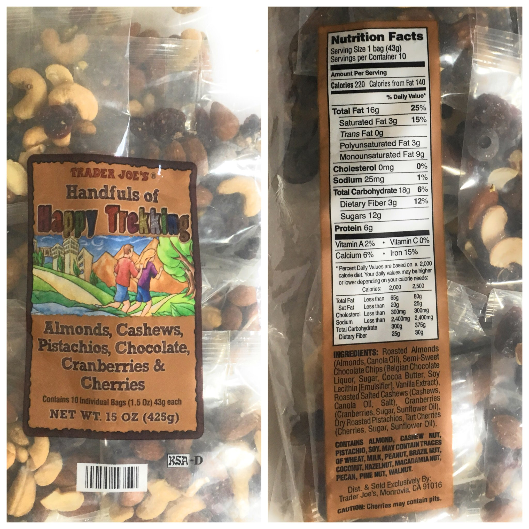 Trader Joes Trail Mix Snack Bundle - 1 Omega Trek, 1 Happy Trekking, and 1 Go Raw Pack - Each with Individual Mini Packets of Mixed Nuts - A Healthy Assortment for Adults and Kids by TJ's (Image #4)