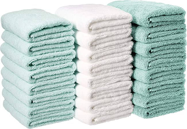 set of 4 soft cotton white plain terry hand towels hotel quality