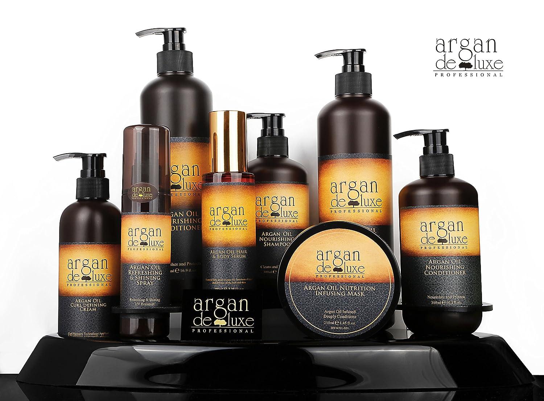 Argan DeLuxe Champú de Aceite de Argan, 300ml, Cuidado del Cabello Premium: Amazon.es: Belleza