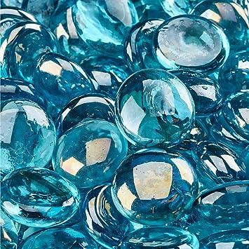 Amazoncom Aqua Blue Fire Beads Fire Glass Firepit Glass 10 Pounds