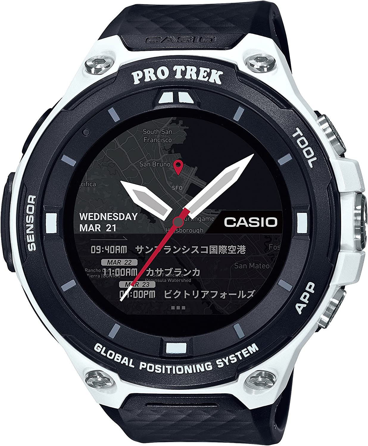 Casio Mens PRO TREK Quartz Resin Outdoor Smartwatch, Color Black (Model: WSD-F20-WECAU)