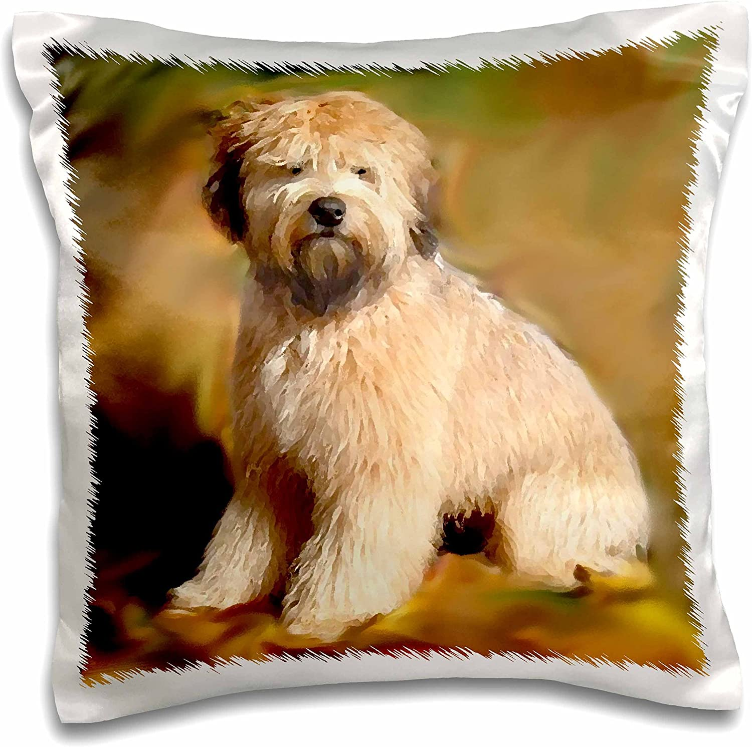 Amazon Com 3drose Pc 4256 1 Soft Coated Wheaten Terrier Pillow Case 16 By 16 White Arts Crafts Sewing