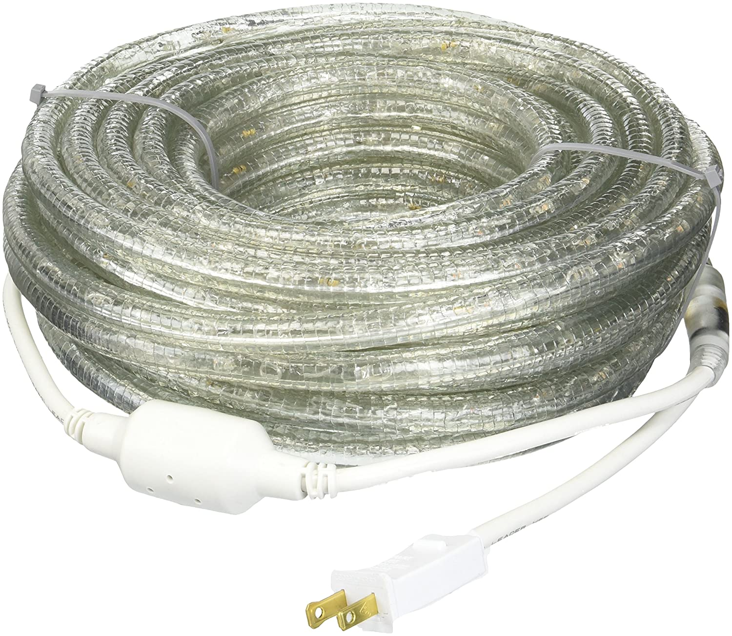 Warm White 30-Feet CBconcept 120VLR30FT-WW 120V 2-Wire 1//2-Inch LED Rope Light with 1.0-Inch LED Spacing