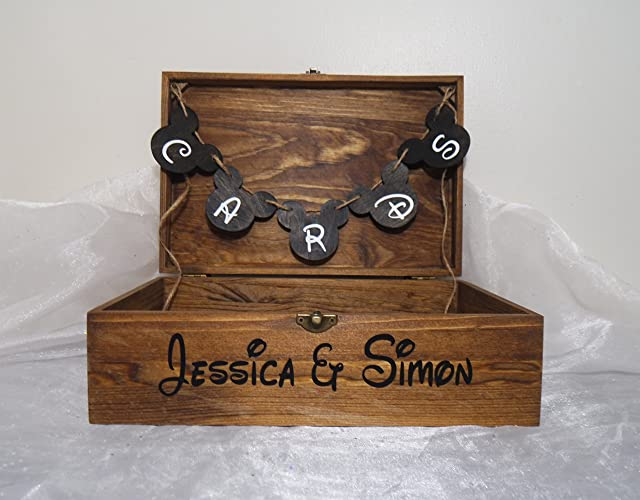 Amazon.com: Personalized Disney Card Box, Disney Wedding Card Box ...