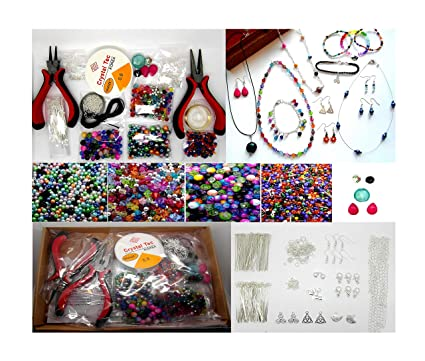 cca2946b517dd Jewellery Making Kit For Beginners - Instructions Included - Findings +  Beads K7
