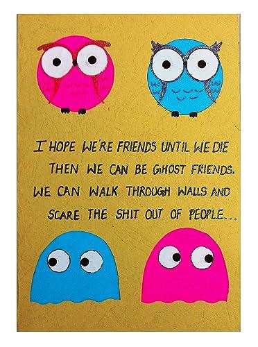 Amazon com: RMantra Handmade Funny Card for Friends