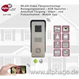 WLAN Video Türsprechanlage ALP500 - 8GB Speicher - Stromversorgung 12V Gleichspannung - Gegensprechanlage - Türüberwachung - Anschluß an vorhandenen Türglocke - Entriegelerfunktion für vorhandenen Türöffner - kein Cloud Speicher - Auflösung HD720P - Aluminium Gehäuse - Diebstahlgesichert - 2Wege Audio Duplex - Steuerung über Smartphone / Tablet - Android und IOS App - App Entwicklung in Deutschland