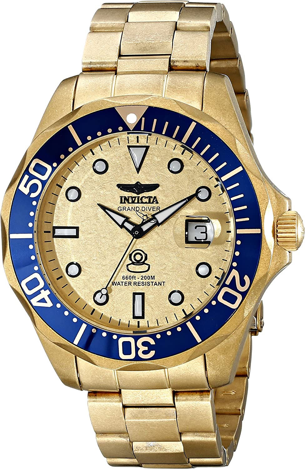 Invicta Men s 17108 Pro Diver Analog Display Swiss Quartz Gold Watch