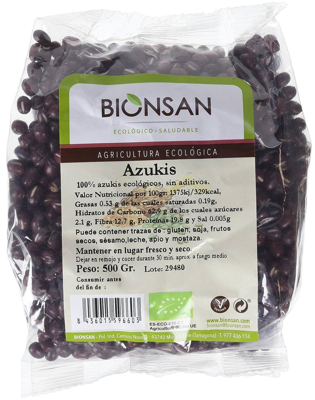 Bionsan Azukis Ecológicos | 6 Paquetes de 500 gr | Total: 3000 gr ...