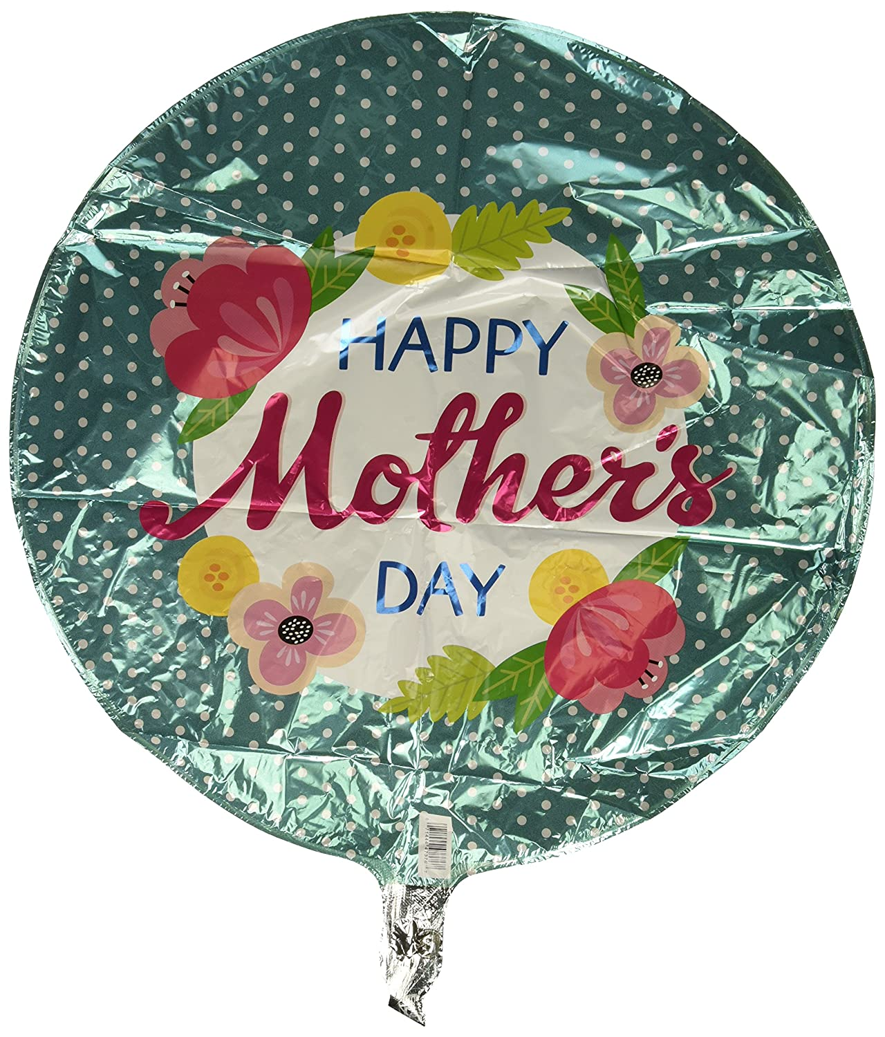 Qualatex Foil Balloon 047376 Mother's Day Petite Polka Dots, 18', Multicolor