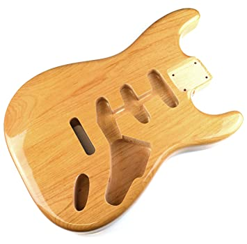 Acabado Natural brillante de guitarra eléctrica Stratocaster cuerpo - 2 piezas American, madera de aliso: Amazon.es: Instrumentos musicales