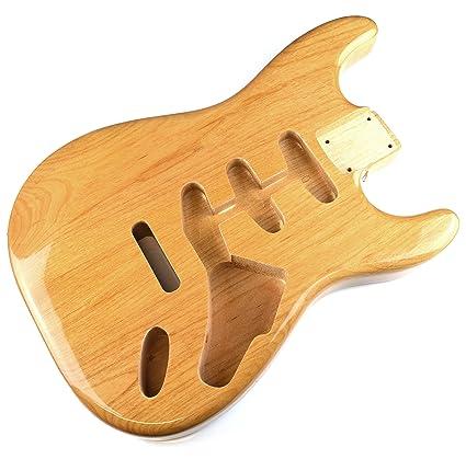 Acabado Natural brillante de guitarra eléctrica Stratocaster cuerpo – 2 piezas American, madera de aliso