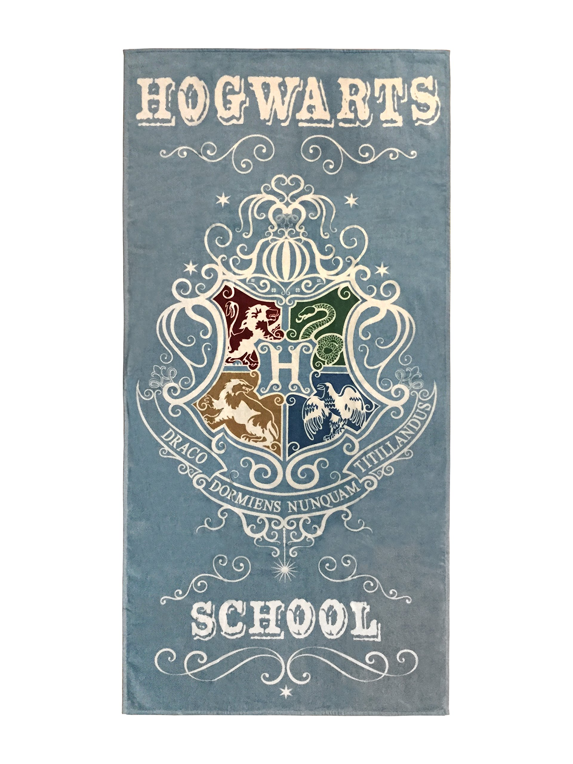 Harry Potter Hogwarts School Super Soft & Absorbent Bath/Pool/Beach Towel, Featuring The Four Houses Of Hogwarts - Fade Resistant Cotton Terry Towel, Measures 28 inch x 58 inch (Official