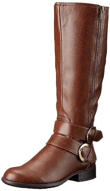 LifeStride Women's X-Must Riding Boot, Dark Tan Must, ...
