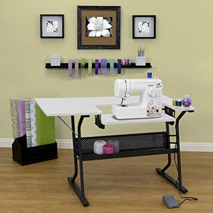 Amazon [US Stock] Anbeaut Home Indoor Adjustable Platform Interesting How To Set Up A Sewing Machine Table