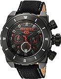 Invicta Men's 'Corduba' Quartz Stainless Steel and Nylon Casual Watch, Color:Black (Model: 22333)