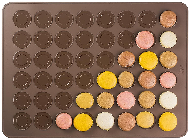 Andrew James Makronen Backmatte für 48 Makronen Antihaft Ideal für Plätzchen Muffins Mini-Windbeutel und Cupcakes