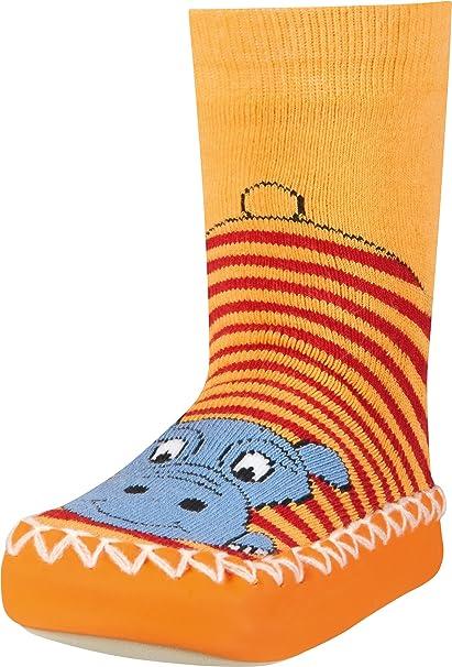 Playshoes Unisex Kids Anti-Slip Cotton Socks Squared Slippers