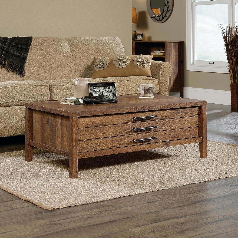 amazon com sauder 420233 new grange coffee table vintage oak