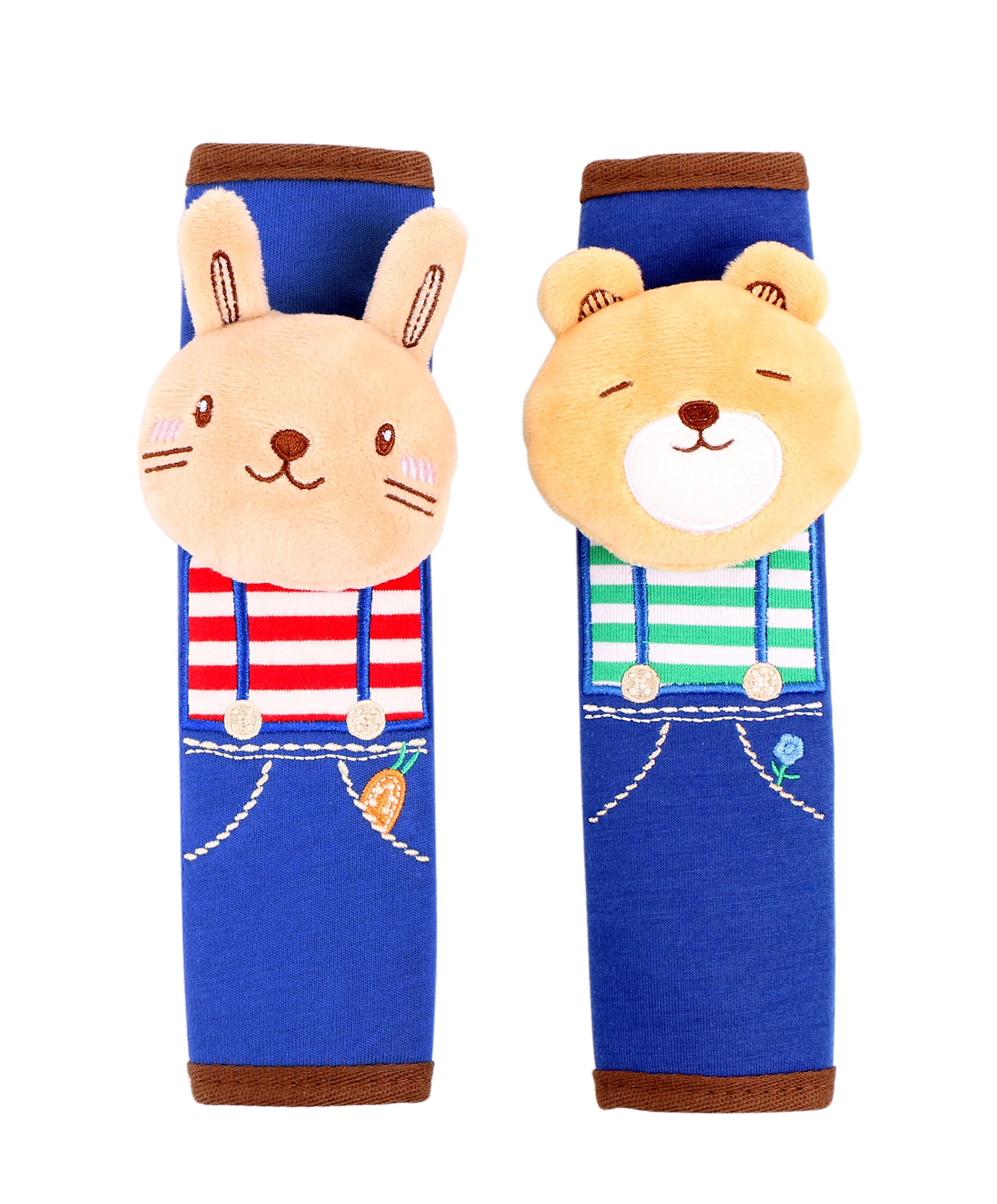 2 Packs of Bunny and Bear Children Kids Baby Strap Soft Headrest Neck Support Shoulder Pad Seat Belt Cover Cushion for Car