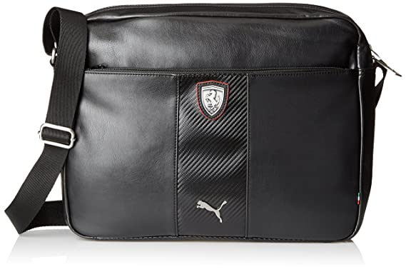 PUMA Men s Ferrari Long Sleeve Reporter Bag, Black, One Size  Amazon ... b7e4ede729