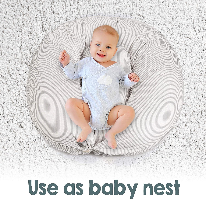 Hypoallerg/énique Cale-b/éb/é Taie 100/% Coton Bamibi/® Coussin dAllaitement et de Grossesse pour Dormir Polyvalent Pregnancy pillow Coton Amovible et Lavable