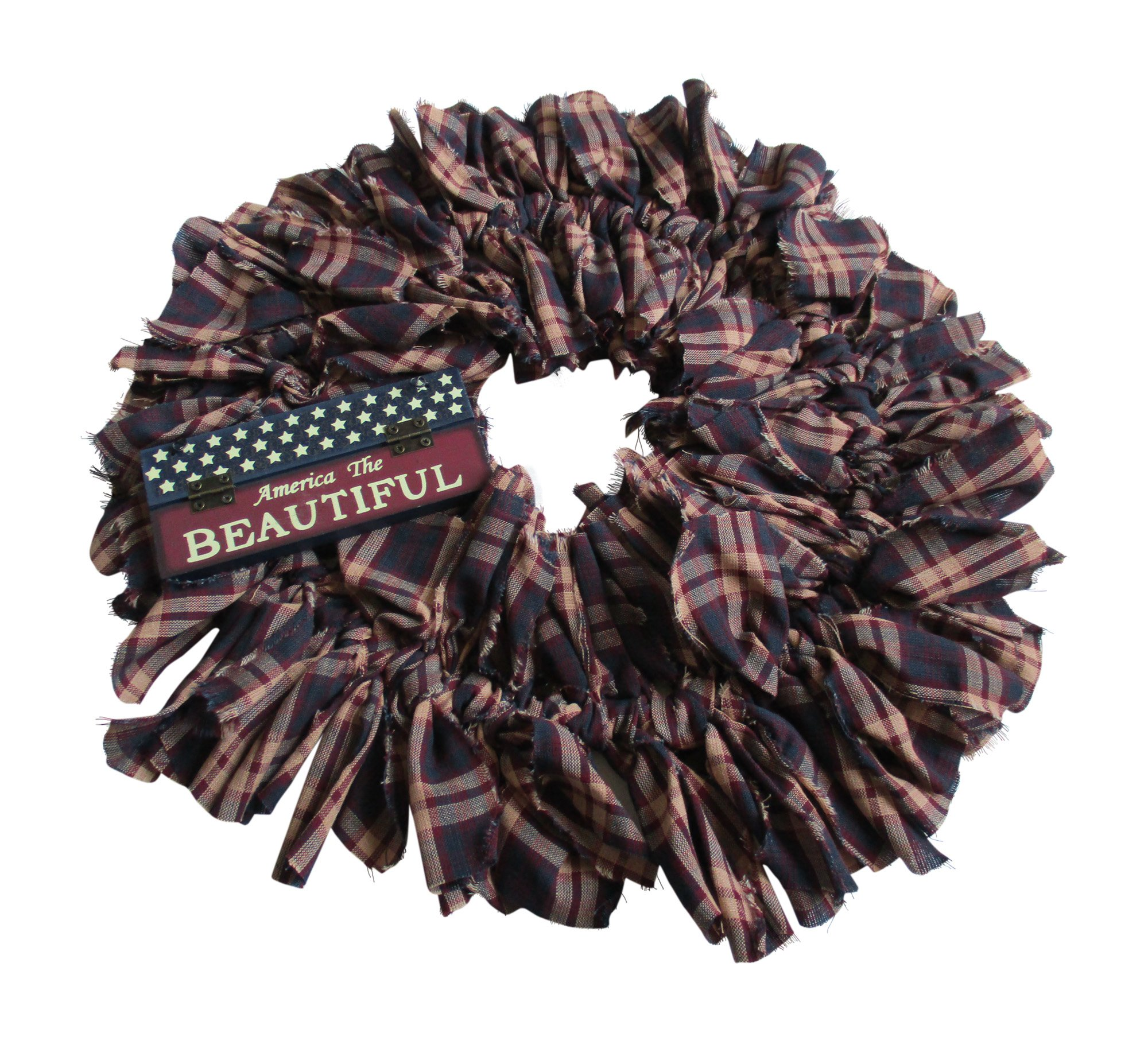 From The Attic Crafts Primitive Americana Rag Wreath America The Beautiful