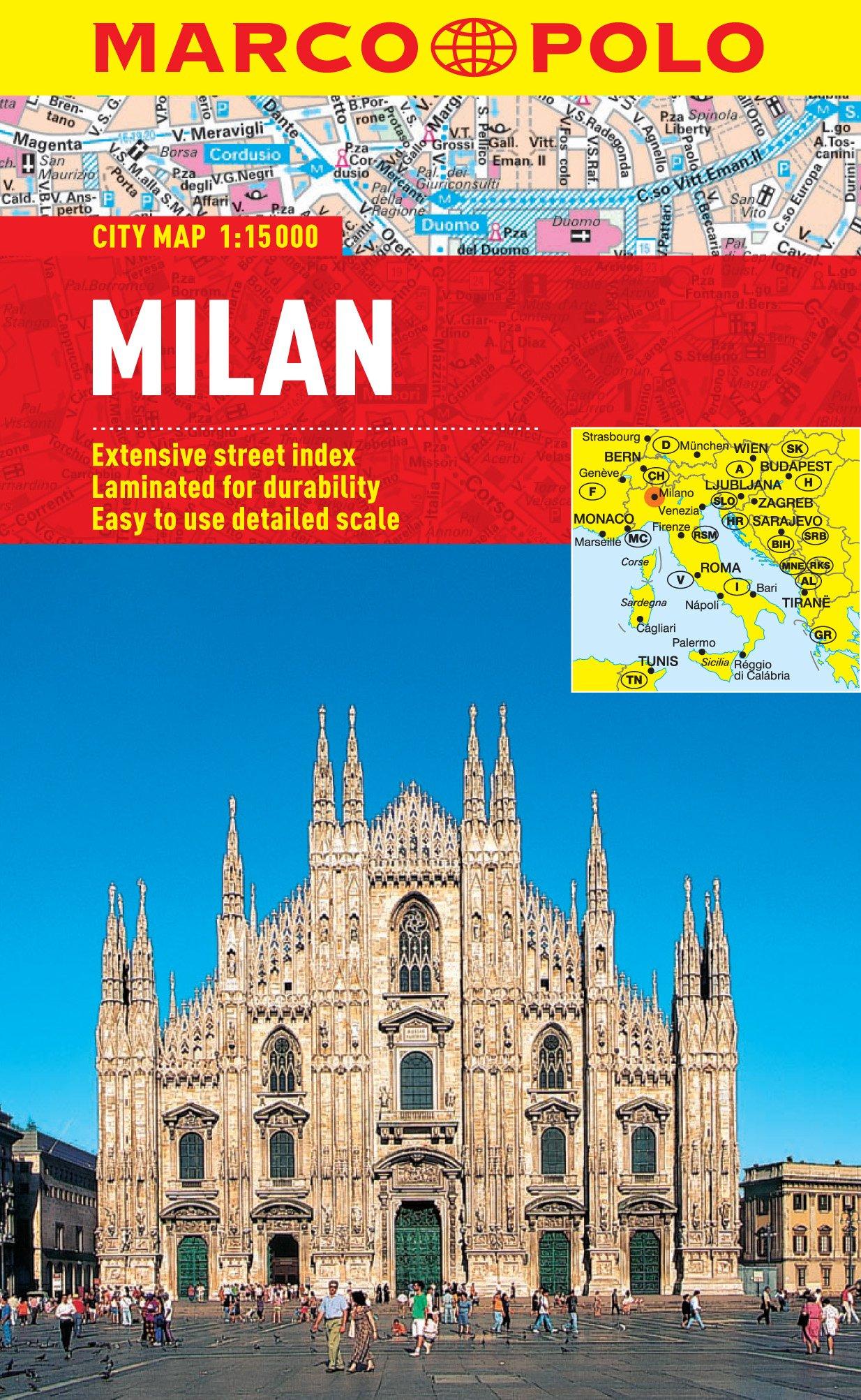 Milan City Map (Marco Polo City Maps) [Idioma Inglés]: Amazon.es ...
