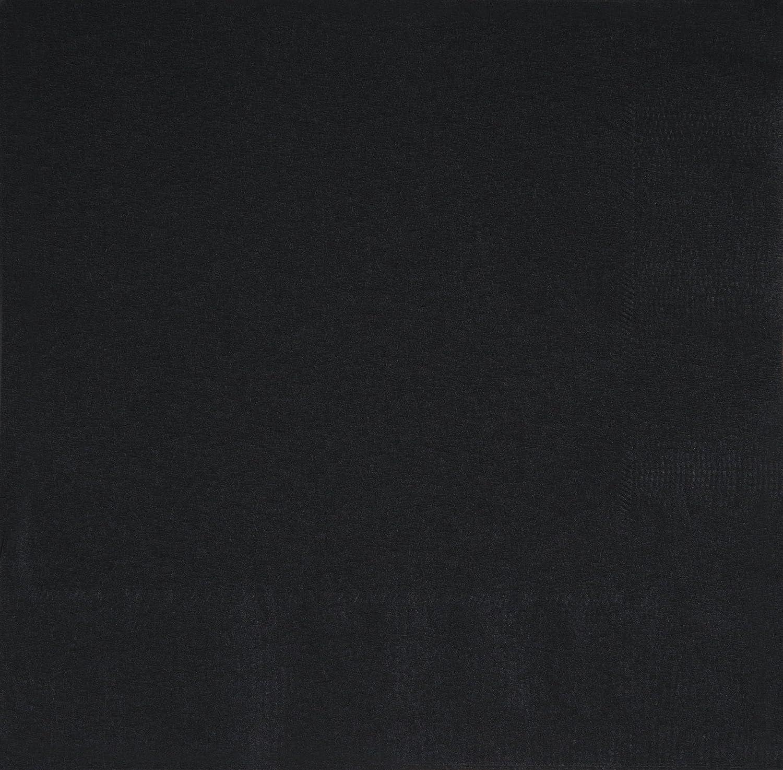 Unique Party 32048 - Tovaglioli di Carta, Confezione da 50, 16,5 cm, Nero