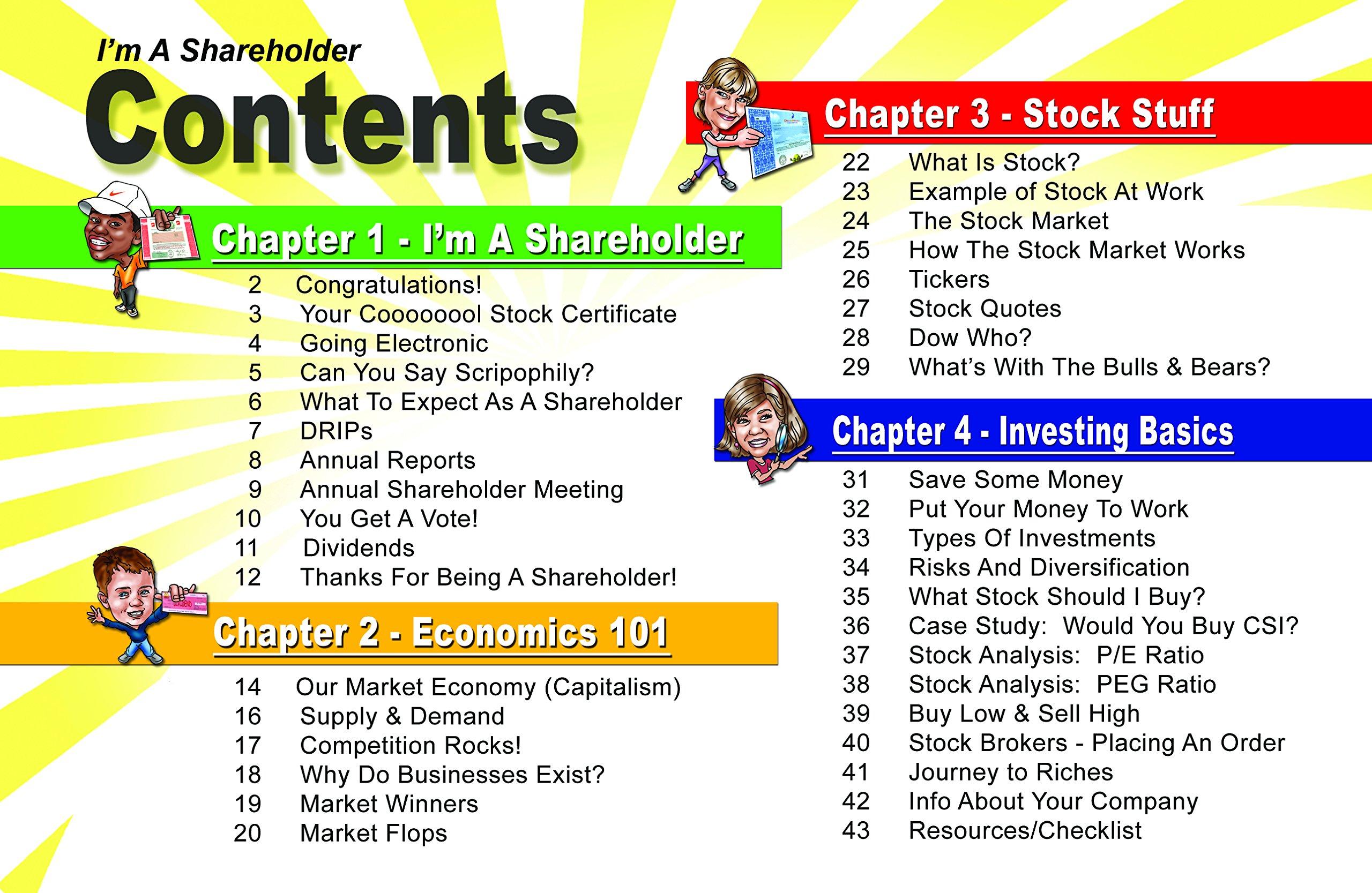 Im A Shareholder Kit The Basics About Stocks For Kidsteens