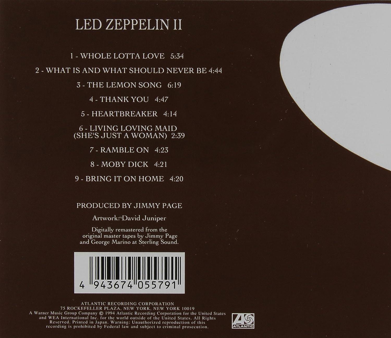Resultado de imagen de led zeppelin ii album covers back