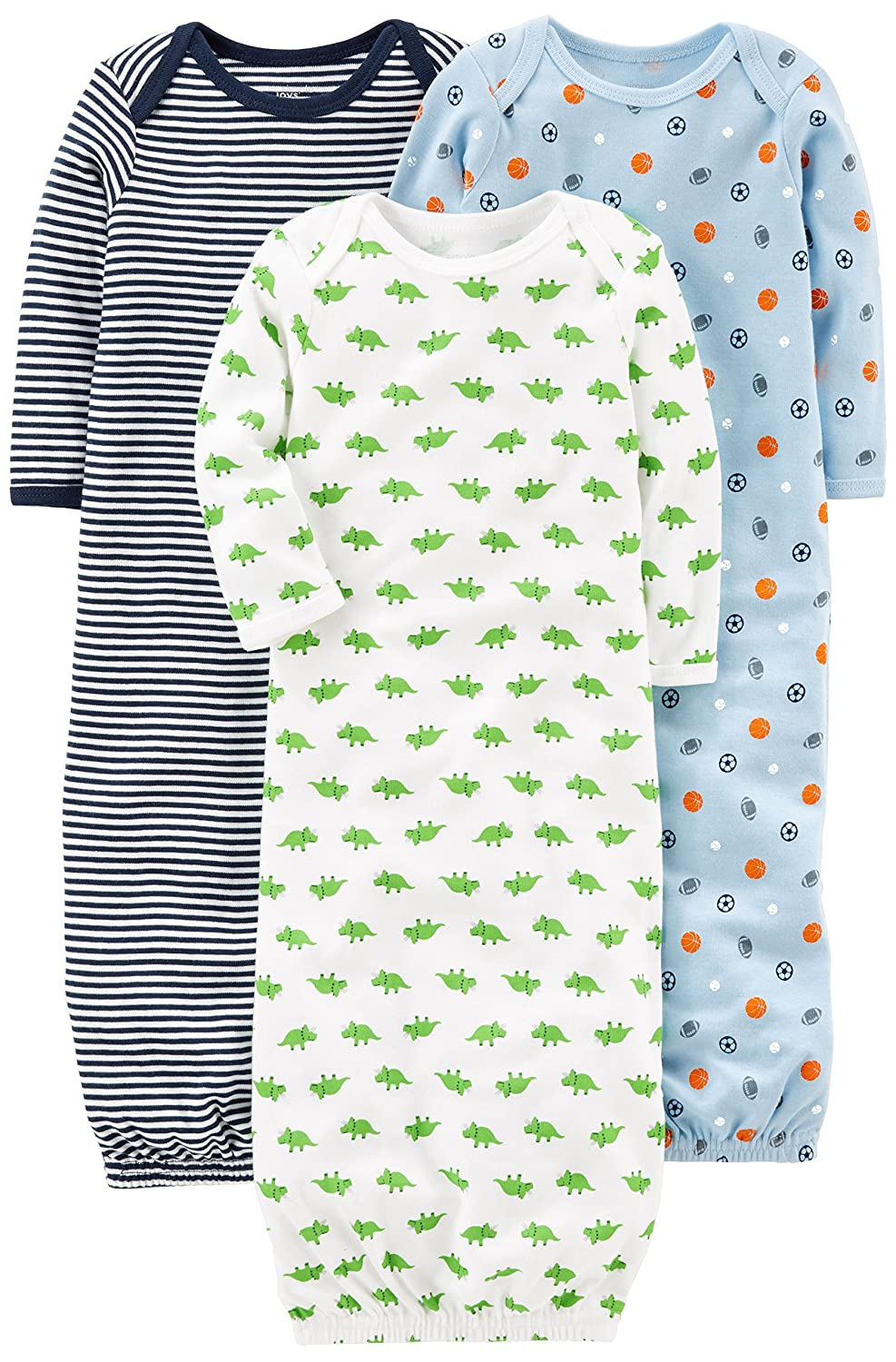 ed80c6a4f Amazon.com: Simple Joys by Carter's Baby Boys' 3-Pack Cotton Sleeper Gown:  Clothing