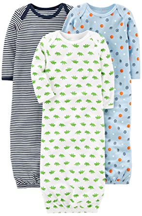 Amazon.com: Simple Joys by Carter\'s Boys\' 3-Pack Cotton Sleeper ...