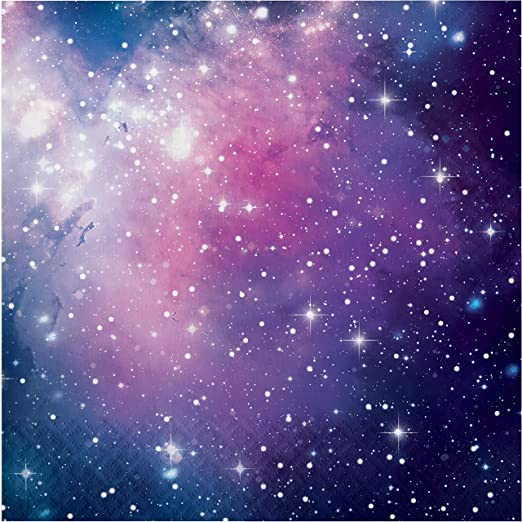 Creative Converting Galaxy Party Napkins Purple 6.5