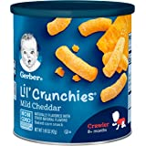Gerber Lil' Crunchies Mild Cheddar, 1.48 Ounce Canisters (Pack of 6),Variety Pack cuicui