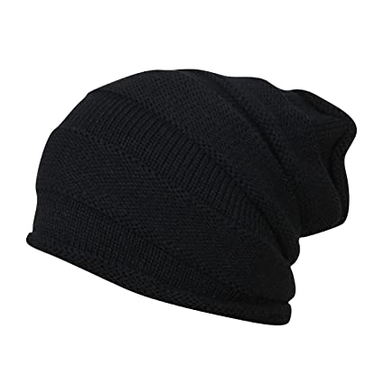 Buy FabSeasons Unisex Black Acrylic Woolen Slouchy Beanie and Skull Cap for  Winters Online at Low Prices in India - Amazon.in 327ffdfcfc4