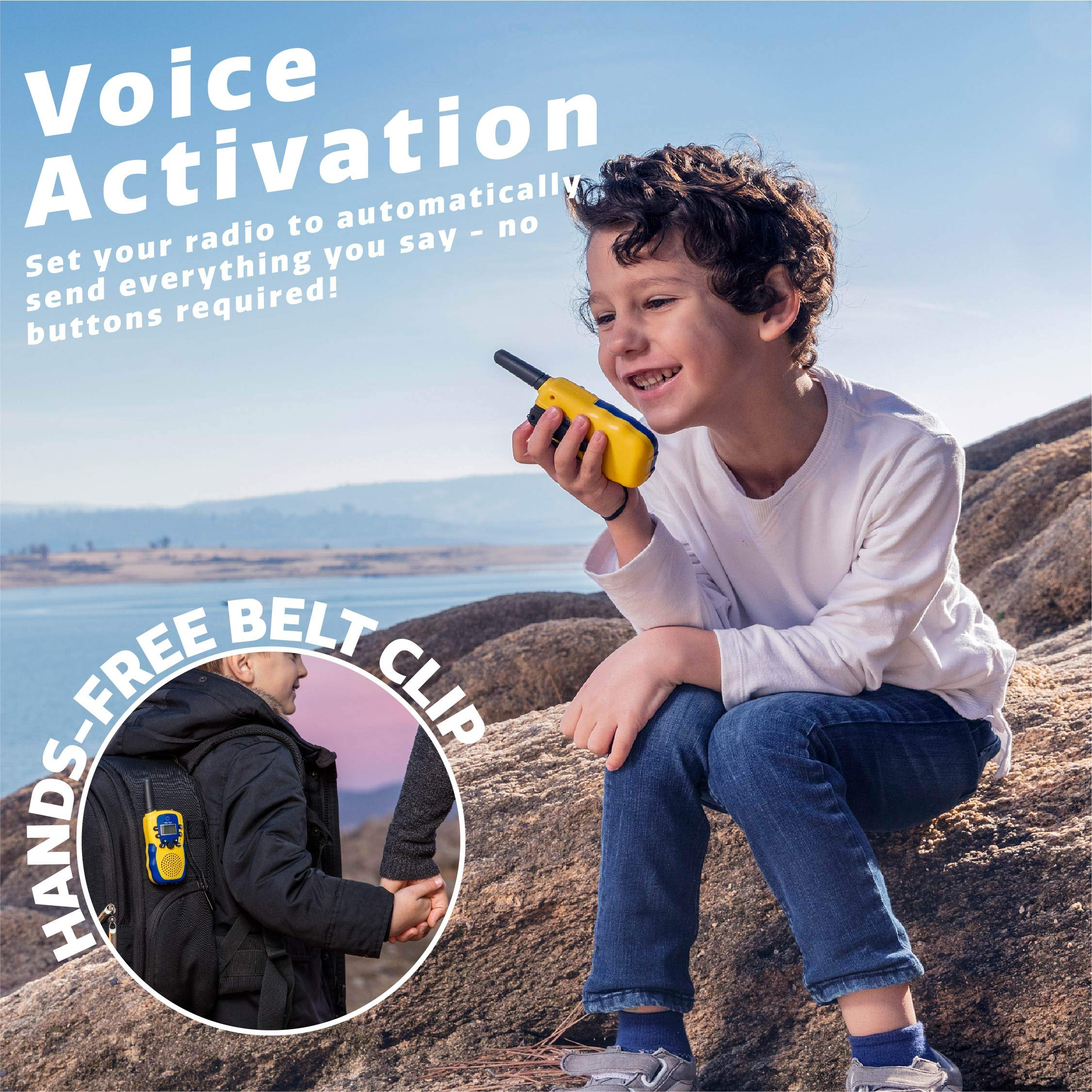 USA Toyz Kids Walkie Talkies with Binoculars - Vox Box Voice Activated Long Range Walkie Talkie Set w/ Binoculars for Kids, Outdoor Toys for Boys or Girls by USA Toyz (Image #3)