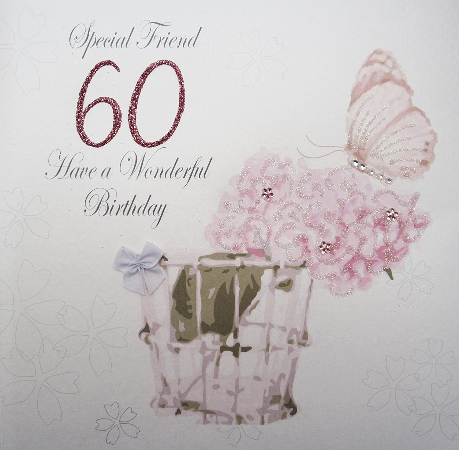 WHITE COTTON CARDS Special Friend 60 Have A Wonderful Handmade Large 60th Birthday Card Code XPDA60 F Amazoncouk Kitchen Home