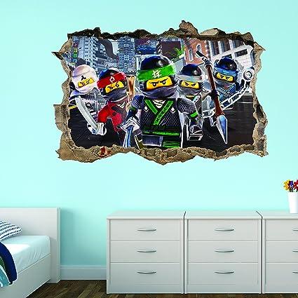 Surprising Lego Ninjago Wall Sticker Decal 3D Breakout Wall Art Amazon Download Free Architecture Designs Scobabritishbridgeorg