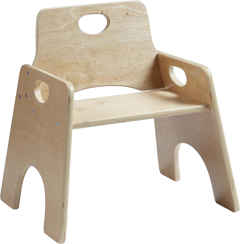 Amazon.com: Sillas infantiles de madera apilables ECR4Kids ...