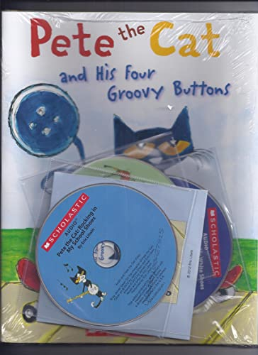 Amazon.com: 4 Pete the Cat Books and 4 CDs Pack (Books and audio CDs ...