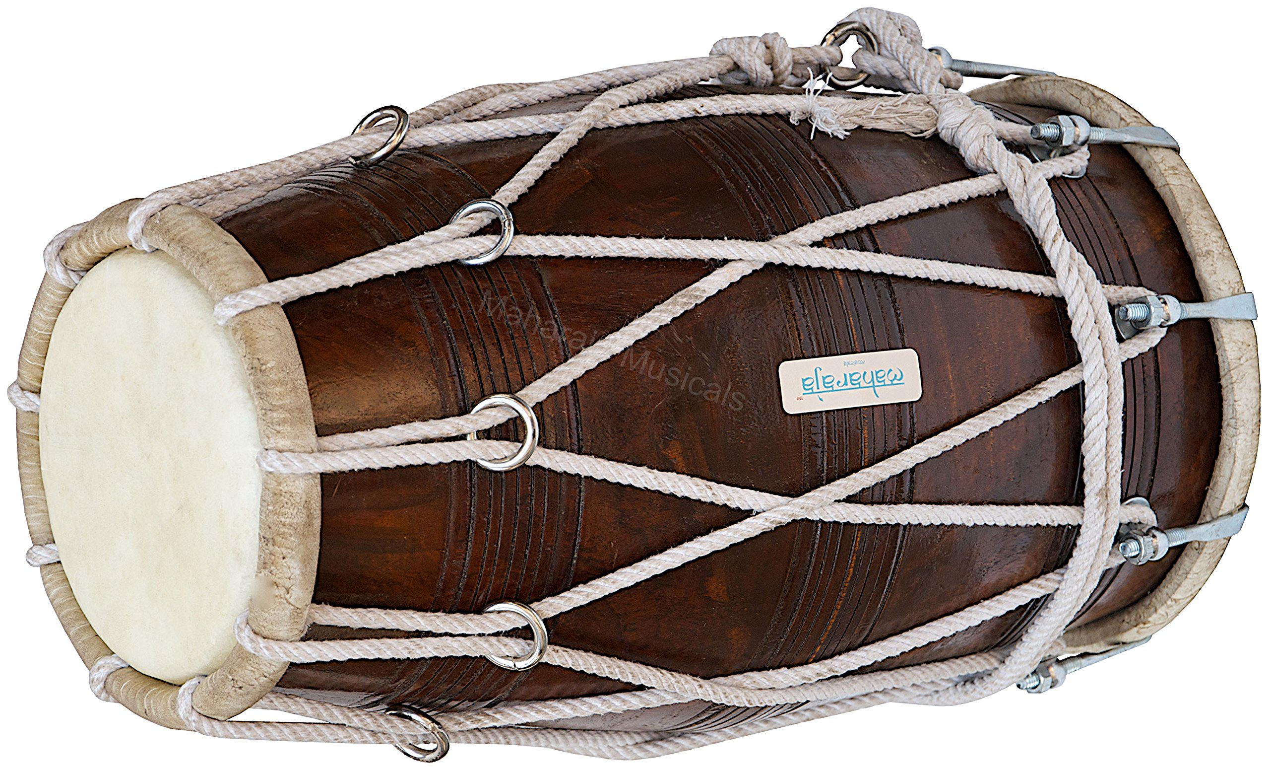 Special Dholak Drum by Maharaja Musicals, Professional Quality, Sheesham Wood, Padded Bag, Spanner, Dholki Musicals Instrument (PDI-BBC) by Maharaja Musicals (Image #1)