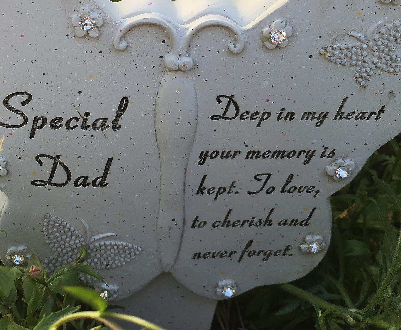 ukgiftstoreonline Special Dad Butterfly Memorial Stake Funeral Graveside Garden