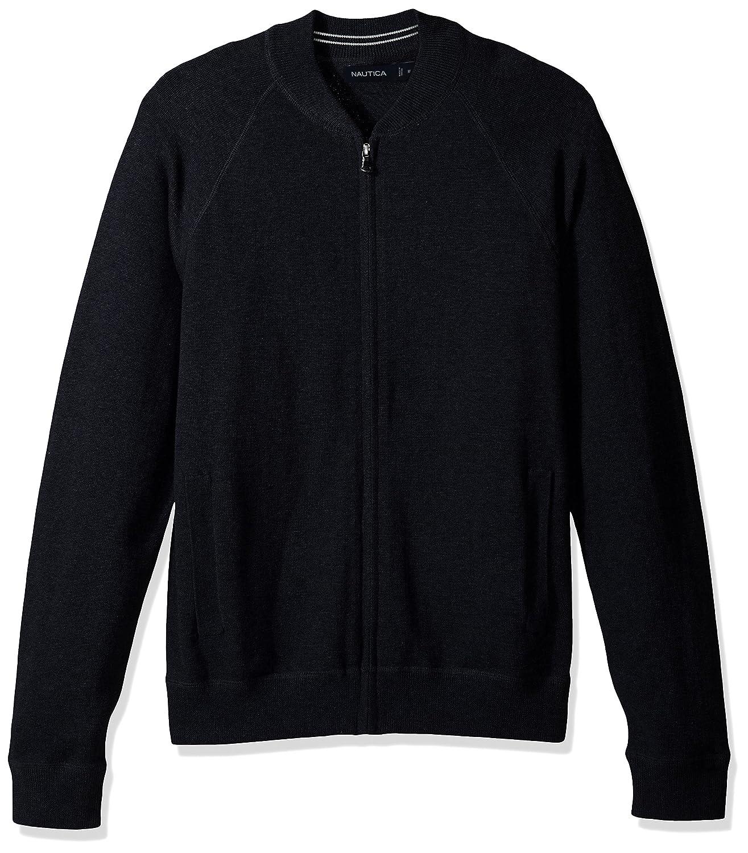 c499940b1f6 Nautica Men's Long Sleeve Full Zip Bomber Sweater