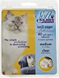 Feline Soft Claws Nail Caps Med Clear